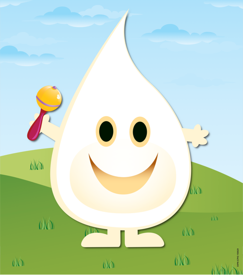 Milk drop poster