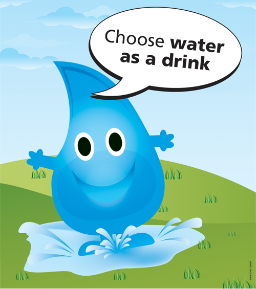 Choose water as a drink water drop poster
