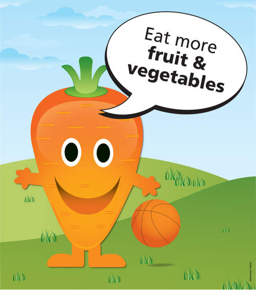 Eat more fruit & vegetables carrot poster