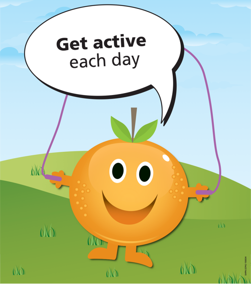 Get active each day orange poster